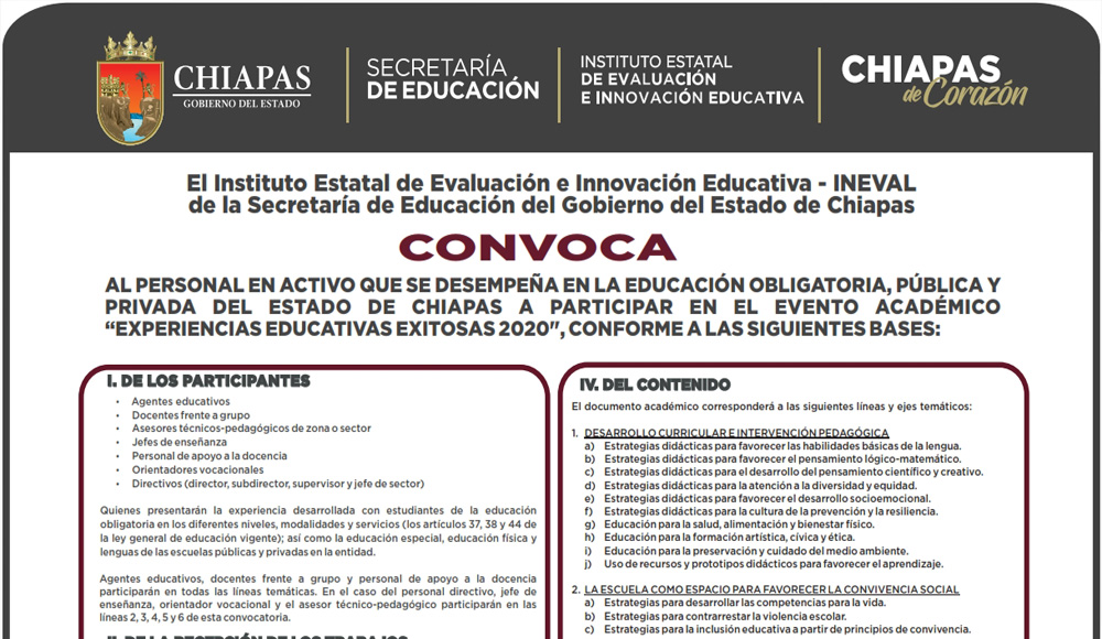 convocatoria experiencias